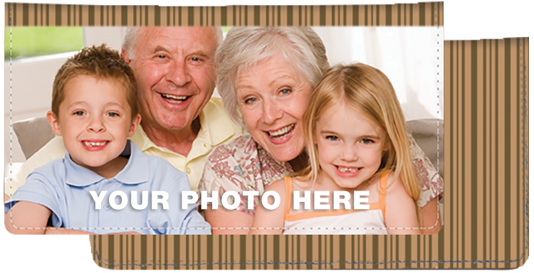 Brown Stripes Photo Checkbook Cover - click to view larger image