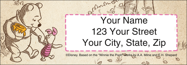 Disney Pooh & Friends Sheeted Labels - Set of 210