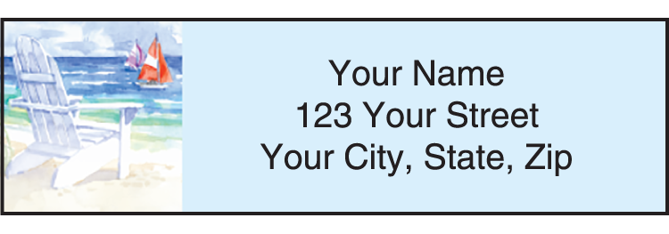 Seaside Address Labels - click to view larger image