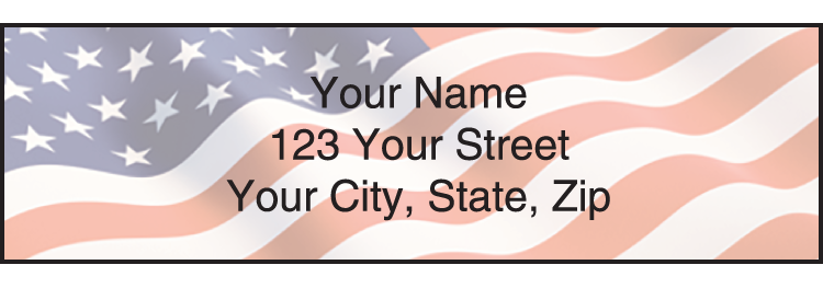 Stars and Stripes Address Labels - Set of 210
