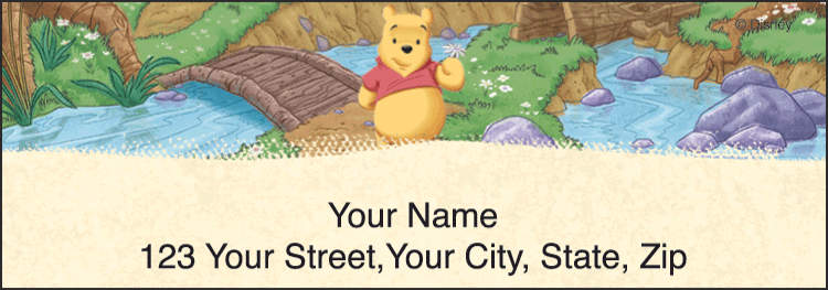 Winnie the Pooh Address Labels - click to preview