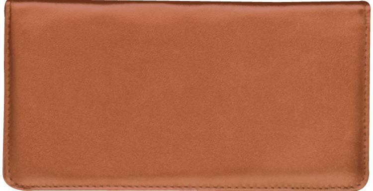 Tan Checkbook Cover w/ Converter