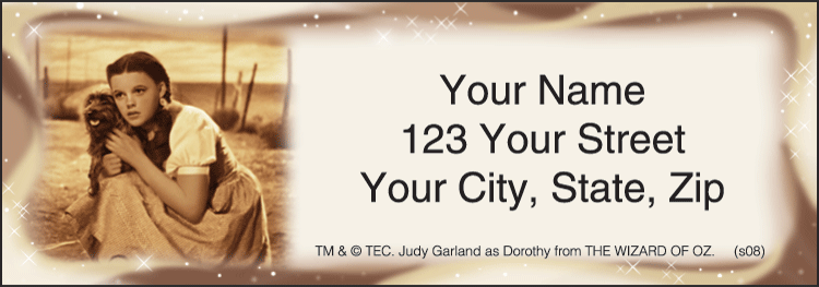 The Wizard of Oz Address Labels - Set of 210