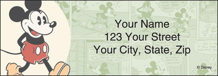 Vintage Mickey Labels - Set of 210