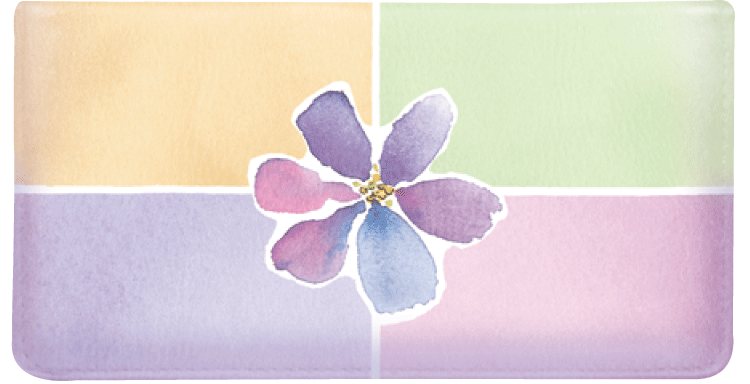 Watercolors Checkbook Cover