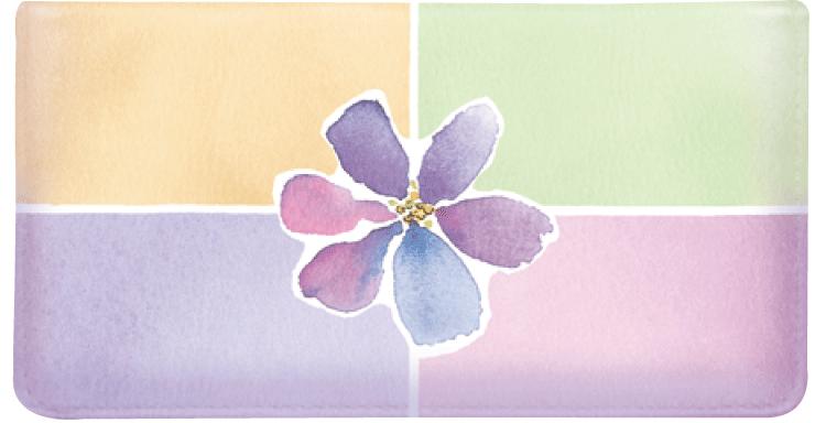 Watercolors Checkbook Cover w/Converter