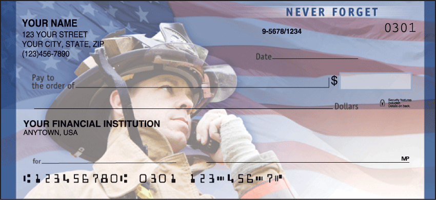 American Heroes Inspiration Personal Checks - 1 Box - Duplicates