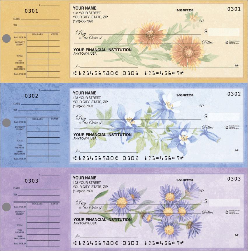 American Wildflowers Checks - 1 Box - Singles