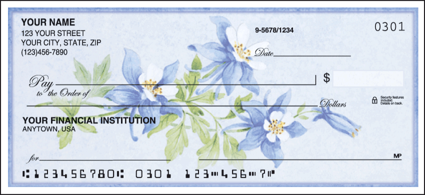 American Wildflowers Personal Checks - 1 Box - Singles