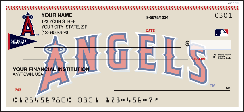 Los Angeles Angels of Anaheim Sports Personal Checks - 1 Box - Duplicates
