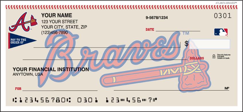 Atlanta Braves Sports Personal Checks - 1 Box - Singles