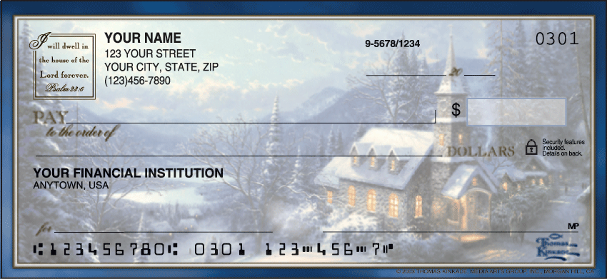 Image of Churches Thomas Kinkade Personal Checks
