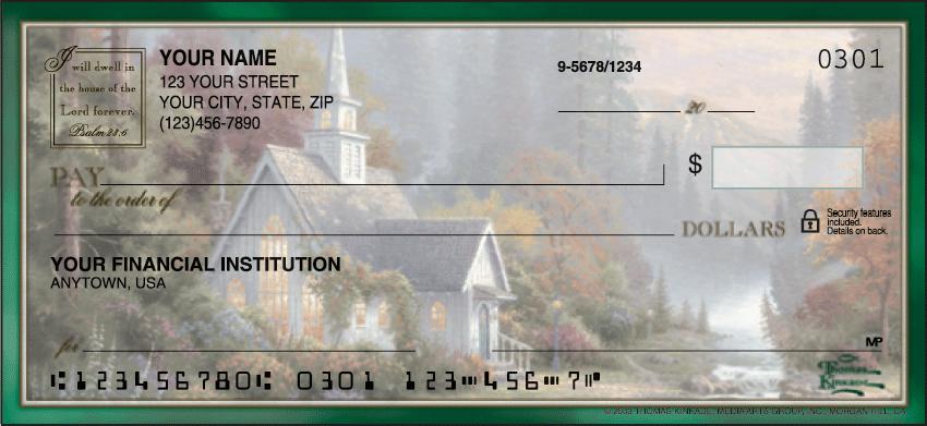 Thomas Kinkade Churches Checks - click to preview