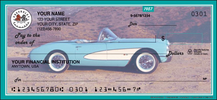 Corvette Recreation Personal Checks - 1 Box - Duplicates