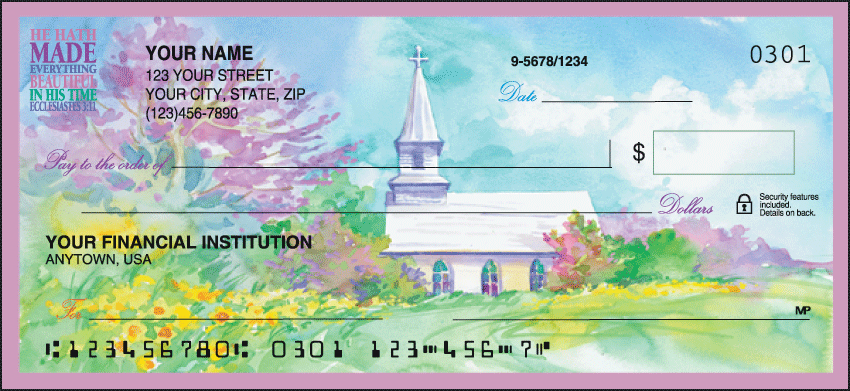 Country Churches Checks Personal Checks - 1 Box - Duplicates