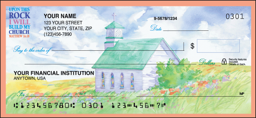 Country Churches Checks - click to preview