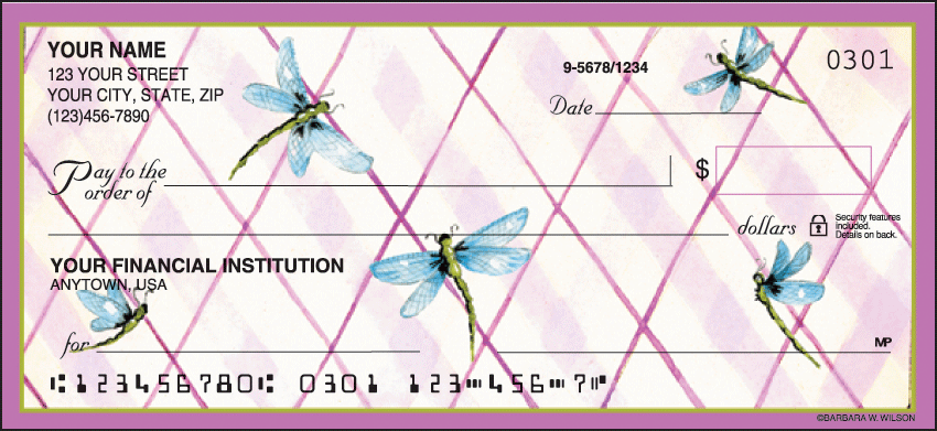Cute as a Bug Garden Personal Checks - 1 Box - Duplicates
