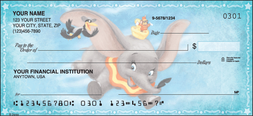 Disney Classics Disney Personal Checks - 1 Box - Singles