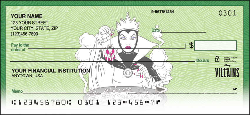 Disney Villains Disney Personal Checks - 1 Box - Duplicates