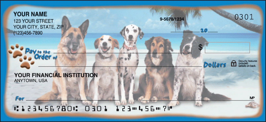 Dog Adventures Animal Personal Checks - 1 Box - Singles - $18.99