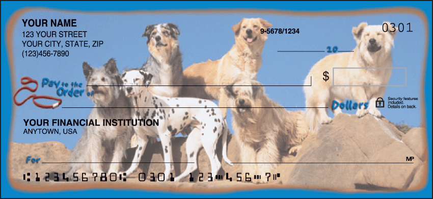 Dog Adventures Checks - click to preview