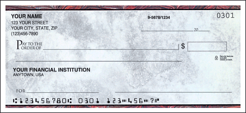 Executive Gray Personal Checks – 1 Box – Singles