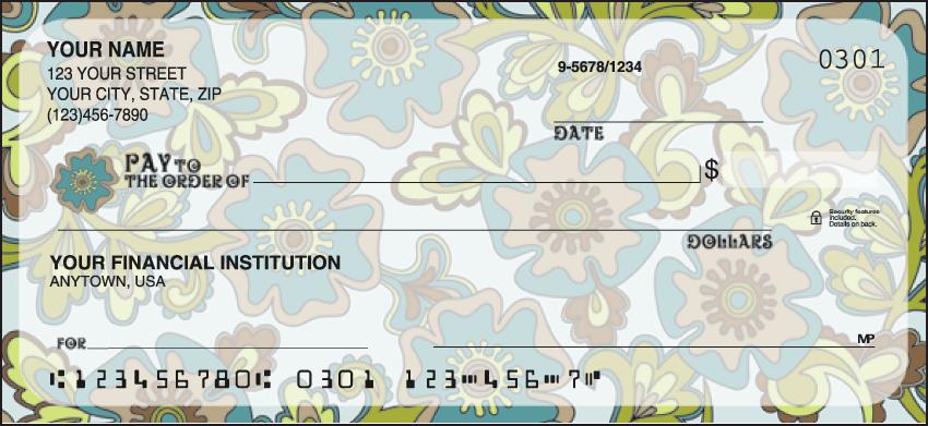Flower Power Checks Personal Checks - 1 Box - Duplicates