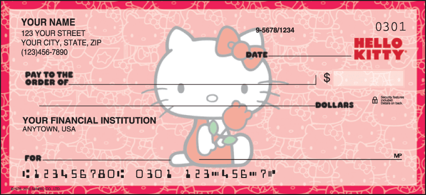 Hello Kitty Checks Personal Checks – 1 Box – Duplicates
