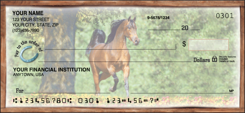 Horse Play Animal Personal Checks - 1 Box - Singles
