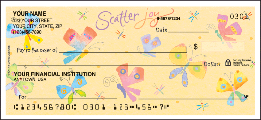 Inspirations by Kathy Davis Personal Checks - 1 Box - Duplicates
