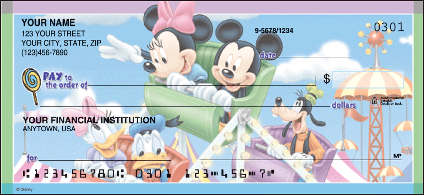 Mickey's Adventures Disney Personal Checks - 1 Box - Duplicates