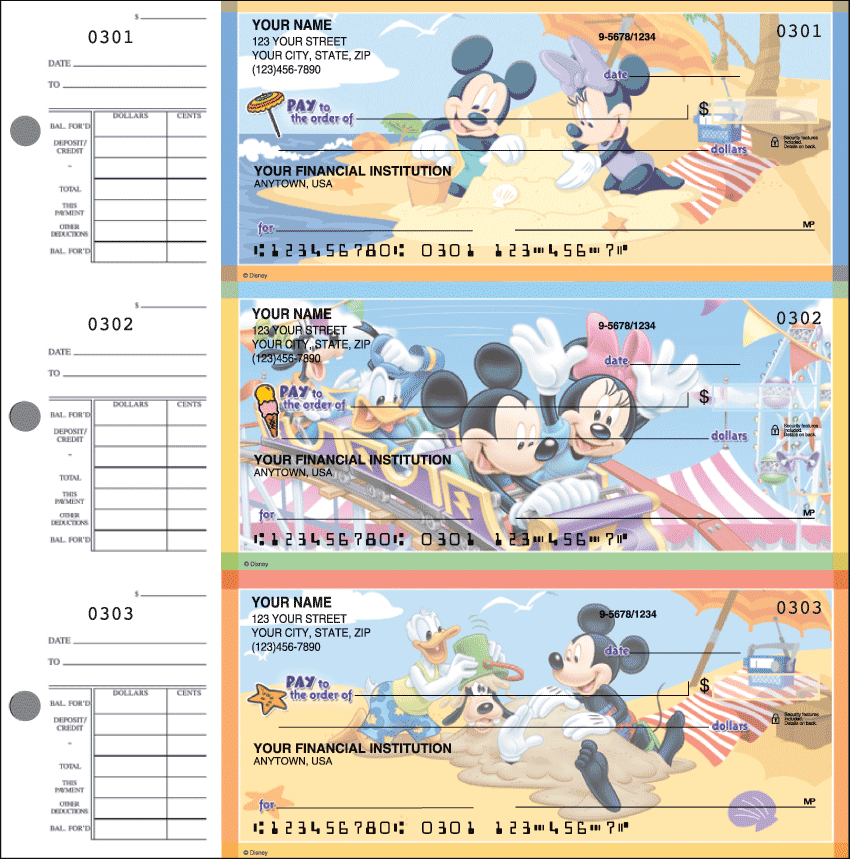 Mickey's Adventures Desk Set Checks - 1 box