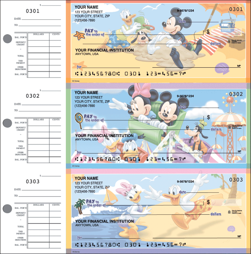 Mickey's Adventures Checks - 1 Box - Duplicates