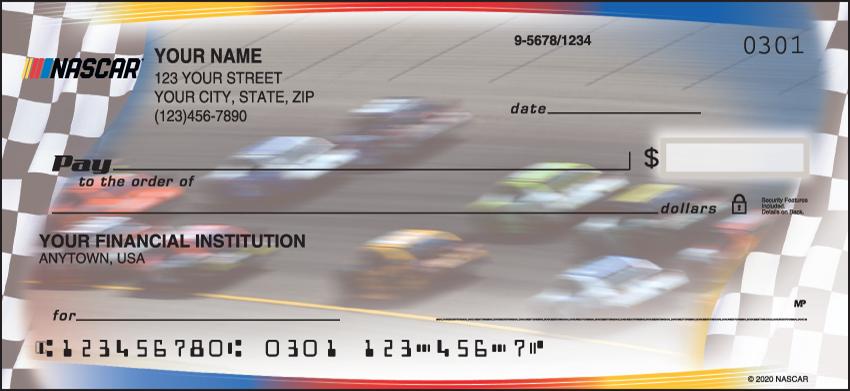 NASCAR Sports Personal Checks - 1 Box - Duplicates
