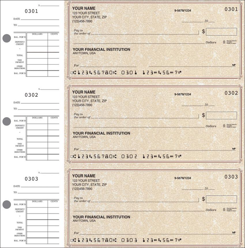 Parchment Classic Checks - 1 Box - Duplicates
