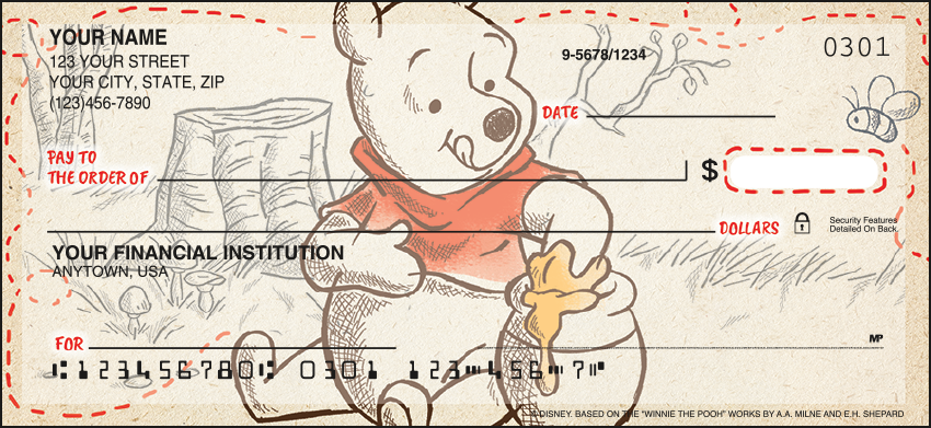 Disney Pooh & Friends Disney Personal Checks – 1 Box – Singles