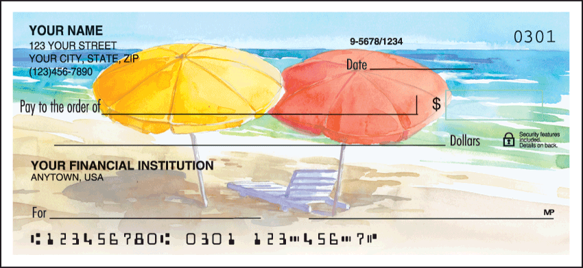 Seaside Personal Checks - 1 Box - Duplicates