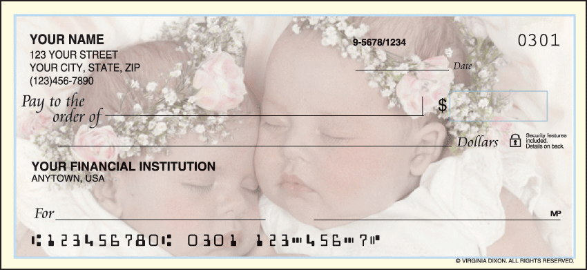 Sweet Dreams Inspiration Personal Checks - 1 Box - Duplicates