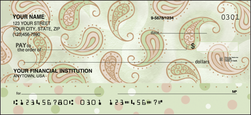 Swirls and Twirls Checks Personal Checks - 1 Box - Duplicates