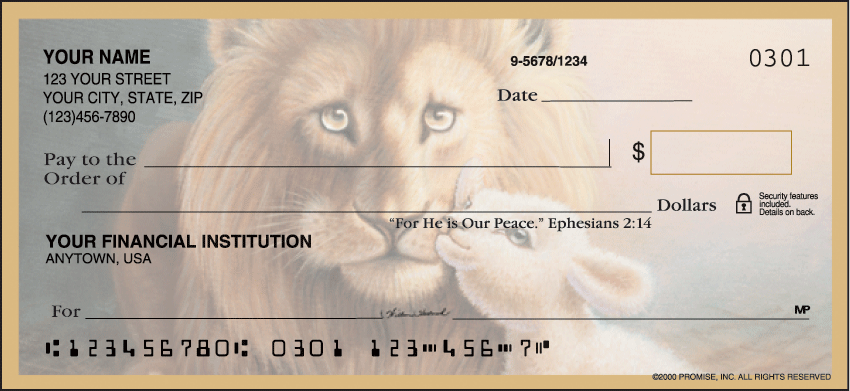 Promise of Peace Checks - click to preview
