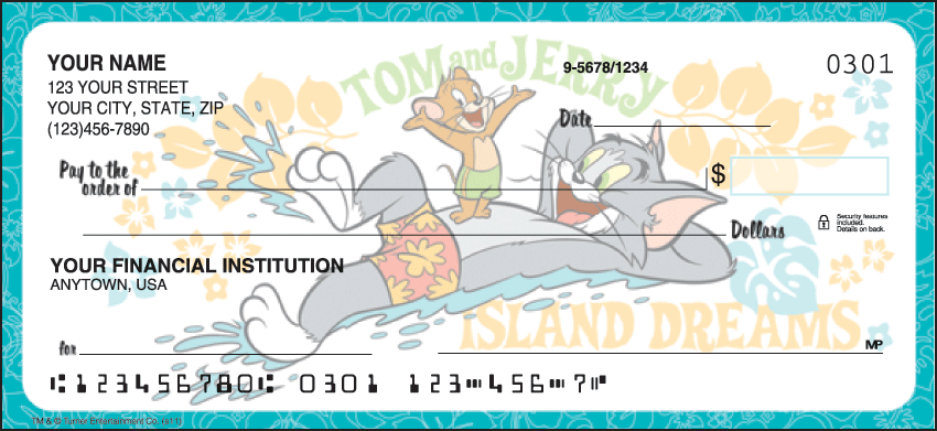Tom & Jerry Warner Bros Personal Checks - 1 Box - Duplicates