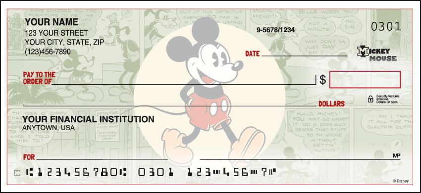 Vintage Mickey Disney Personal Checks - 1 Box - Duplicates
