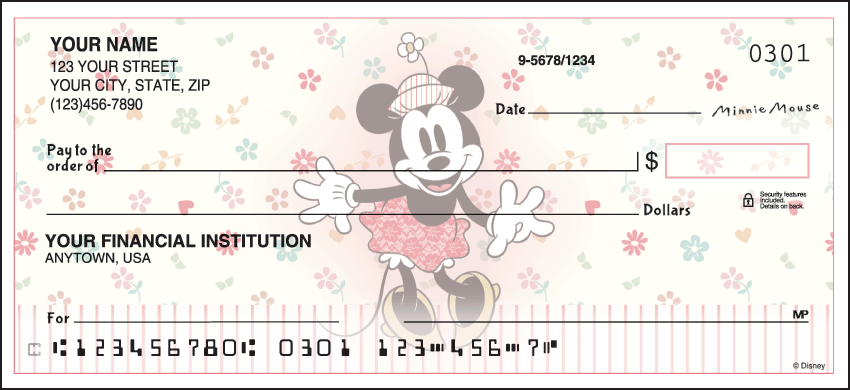 Vintage Minnie Disney Personal Checks – 1 Box – Duplicates