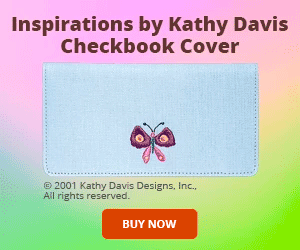 Kathy Davis Inspirations Davis Checkbook Cover