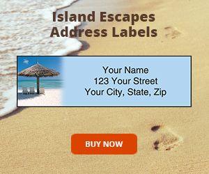 Island Escapes Address Labels