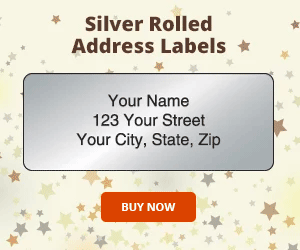 Silver Rolled Address Labels