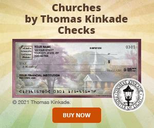 Thomas Kinkade Churches Checks