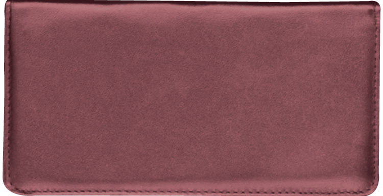 Burgundy Checkbook Cover - click to view larger image