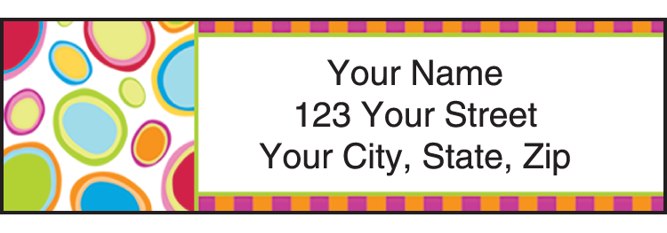 Go-Go Retro Address Labels - click to view larger image