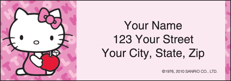 Hello Kitty Address Labels - click to preview